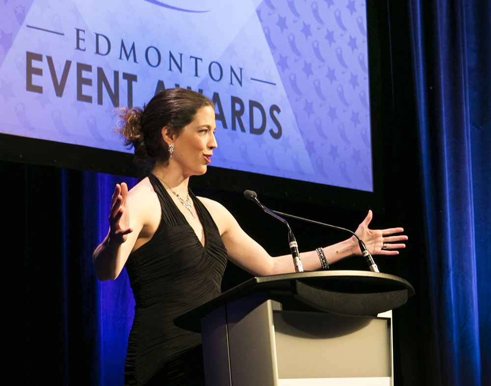 Lauren Sergy at Edmonton Event Awards